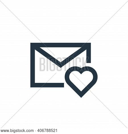 favourite icon isolated on white background from email collection. favourite icon thin line outline