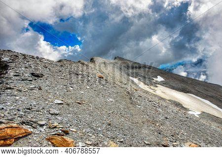 Unesco World Heritage Tectonic Arena Sardona, Piz Segnas, Piz Sardona. In The Glarus Mountains Above
