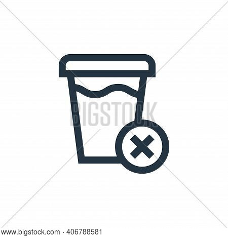 fasting icon isolated on white background from ramadan collection. fasting icon thin line outline li