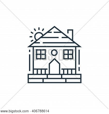 farm house icon isolated on white background from environment and eco collection. farm house icon th