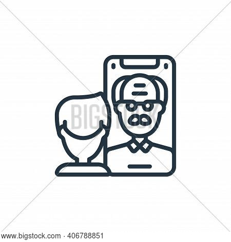 facetime icon isolated on white background from self isolation collection. facetime icon thin line o