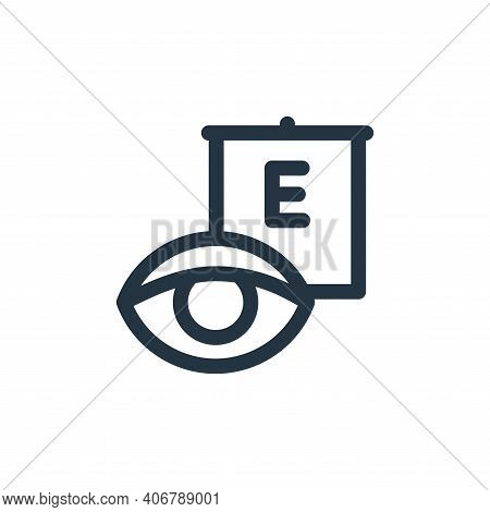 eye test icon isolated on white background from health collection. eye test icon thin line outline l
