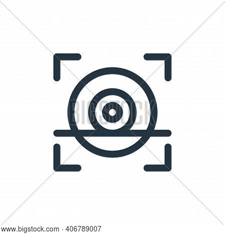 eye scan icon isolated on white background from technology of the future collection. eye scan icon t