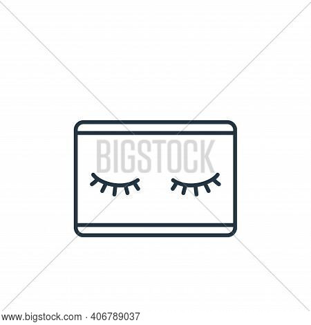 eyelashes icon isolated on white background from beauty cosmetics collection. eyelashes icon thin li