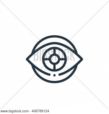 eye icon isolated on white background from design thinking collection. eye icon thin line outline li