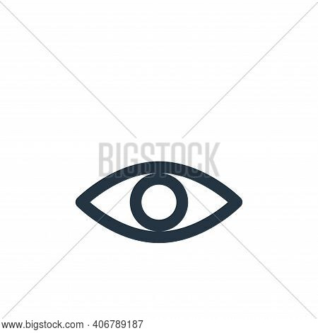 eye icon isolated on white background from multimedia collection. eye icon thin line outline linear