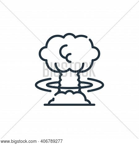 explosion icon isolated on white background from climate change collection. explosion icon thin line