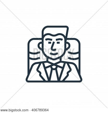 executive icon isolated on white background from business risks collection. executive icon thin line
