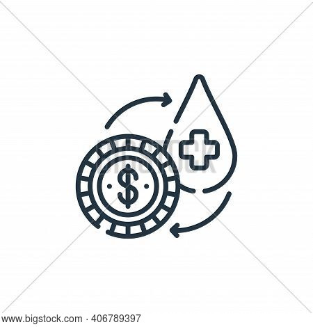 exchange icon isolated on white background from hope collection. exchange icon thin line outline lin