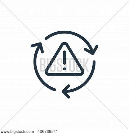 error icon isolated on white background from data transfer collection. error icon thin line outline