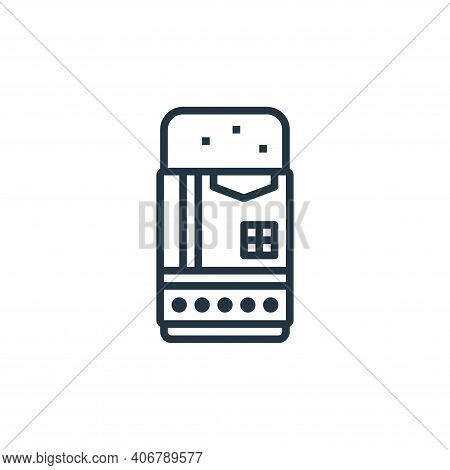 eraser icon isolated on white background from stationery collection. eraser icon thin line outline l