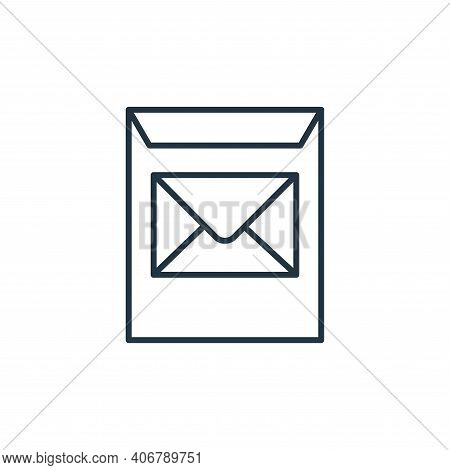 envelope icon isolated on white background from stationery collection. envelope icon thin line outli