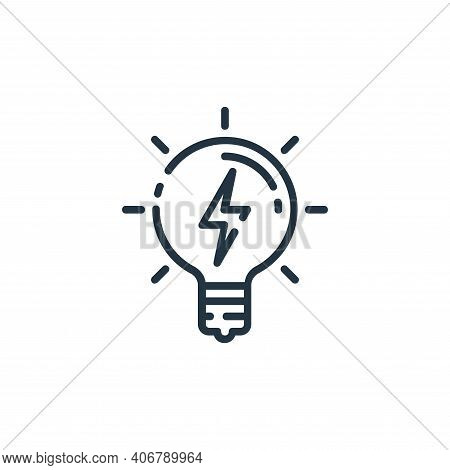 energy icon isolated on white background from startup collection. energy icon thin line outline line