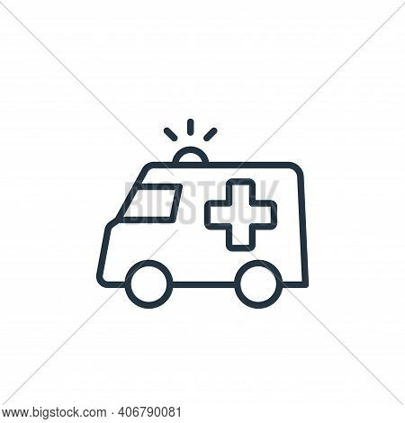 emergency icon isolated on white background from stop virus collection. emergency icon thin line out