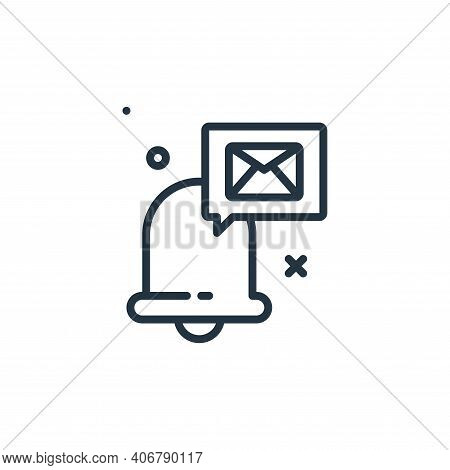 email icon isolated on white background from work from home collection. email icon thin line outline