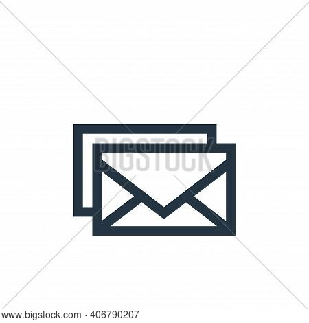 email icon isolated on white background from advertisement collection. email icon thin line outline