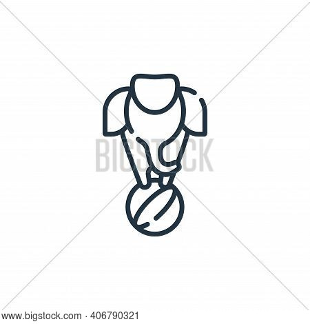 elephant icon isolated on white background from circus collection. elephant icon thin line outline l