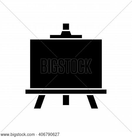 Easel Icon On White Background. Vector Illustration.