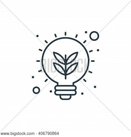 eco bulb icon isolated on white background from earth day collection. eco bulb icon thin line outlin