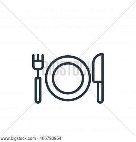 eating icon isolated on white background from stay at home collection. eating icon thin line outline