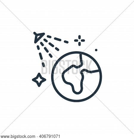 earth icon isolated on white background from mass disinfection collection. earth icon thin line outl