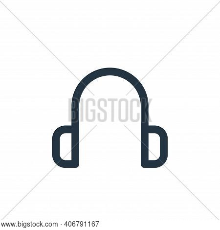 earphone icon isolated on white background from multimedia collection. earphone icon thin line outli