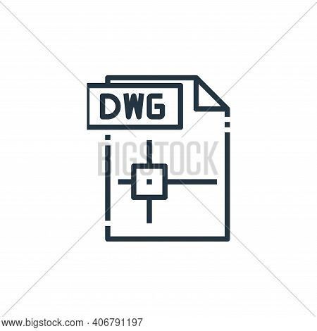 dwg file icon isolated on white background from file type collection. dwg file icon thin line outlin