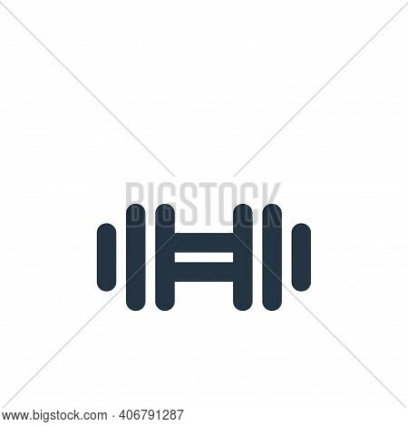 dumbbell icon isolated on white background from sport collection. dumbbell icon thin line outline li