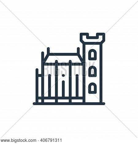 dublin castle icon isolated on white background from europe collection. dublin castle icon thin line