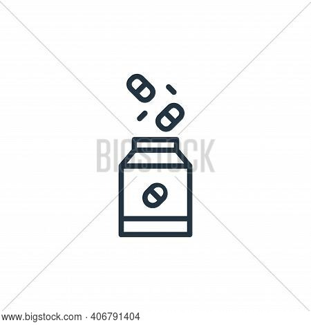 drug icon isolated on white background from coronavirus collection. drug icon thin line outline line