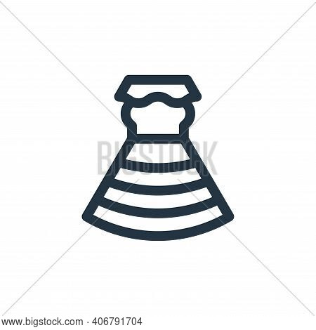 dress icon isolated on white background from mexico collection. dress icon thin line outline linear