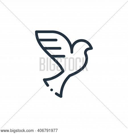 dove icon isolated on white background from world love collection. dove icon thin line outline linea