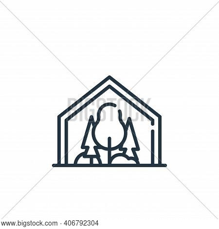 dome icon isolated on white background from technology of the future collection. dome icon thin line