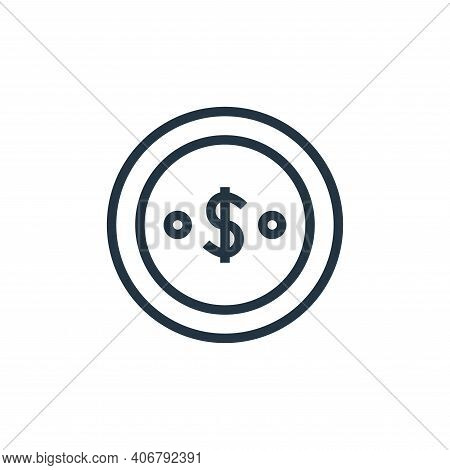 dollar icon isolated on white background from finance collection. dollar icon thin line outline line