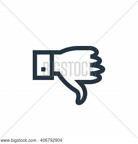 dislike icon isolated on white background from feedback and testimonials collection. dislike icon th