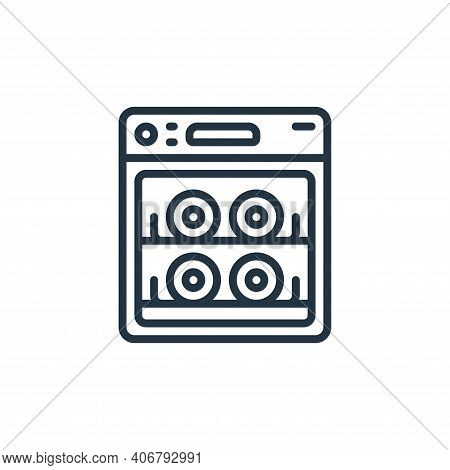 dish washer icon isolated on white background from hygiene collection. dish washer icon thin line ou