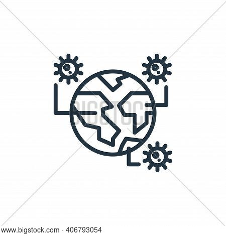 disease icon isolated on white background from pandemic collection. disease icon thin line outline l