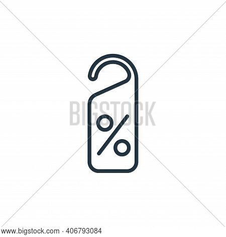 discount tag icon isolated on white background from ecommerce collection. discount tag icon thin lin