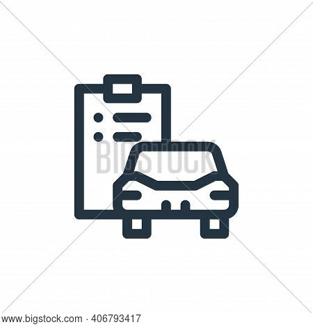 diagnostic icon isolated on white background from auto racing collection. diagnostic icon thin line