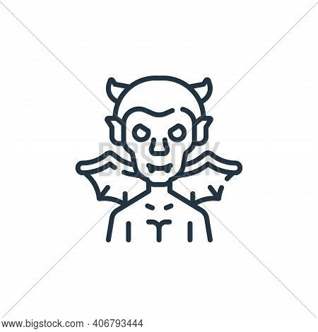 devil icon isolated on white background from fantastic characters collection. devil icon thin line o
