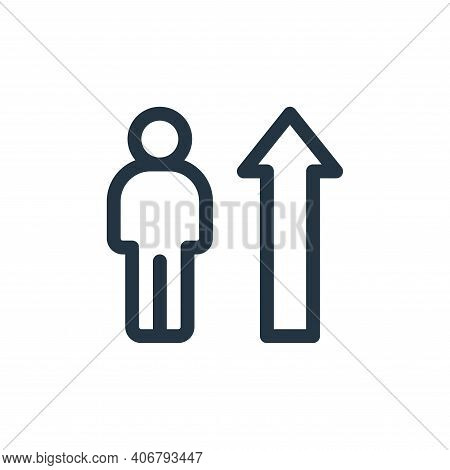 development icon isolated on white background from life skills collection. development icon thin lin