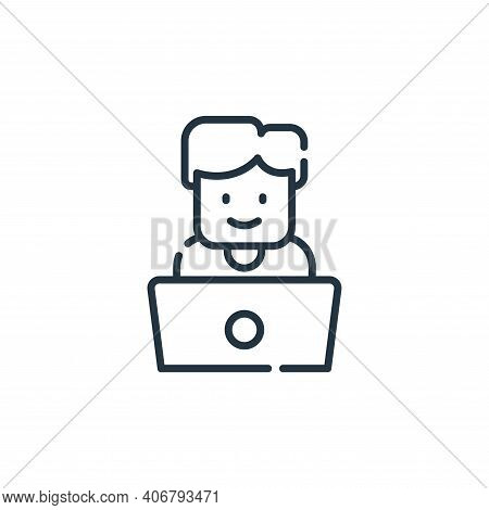 developer icon isolated on white background from web development collection. developer icon thin lin