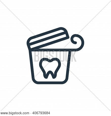 dental floss icon isolated on white background from personal hygiene collection. dental floss icon t