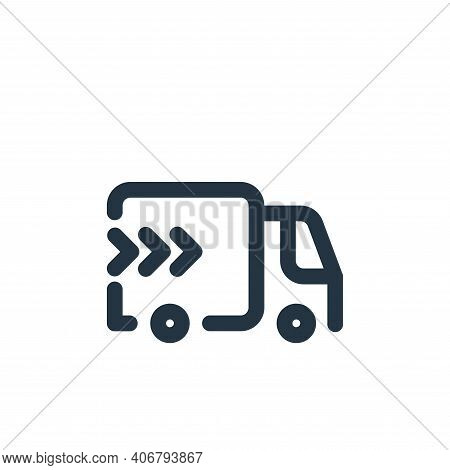 delivery icon isolated on white background from shopping collection. delivery icon thin line outline
