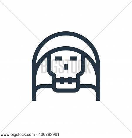 death icon isolated on white background from fantastic characters collection. death icon thin line o