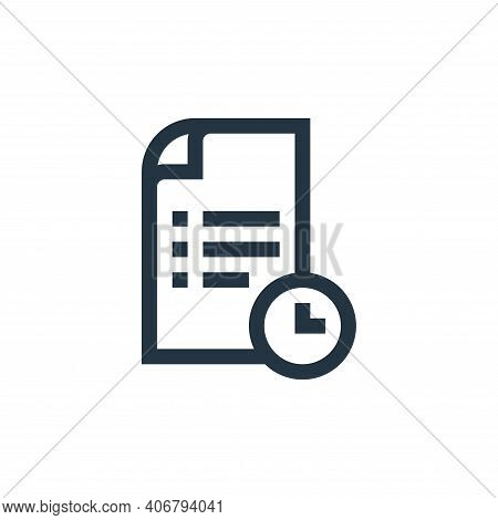 deadline icon isolated on white background from job resume collection. deadline icon thin line outli