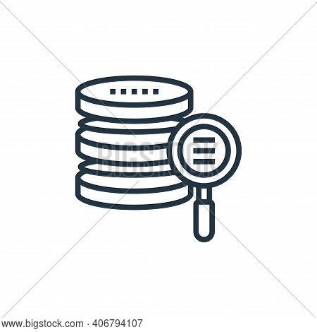 data storage icon isolated on white background from data analytics collection. data storage icon thi