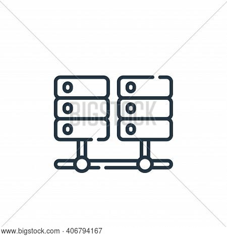 database icon isolated on white background from database and servers collection. database icon thin