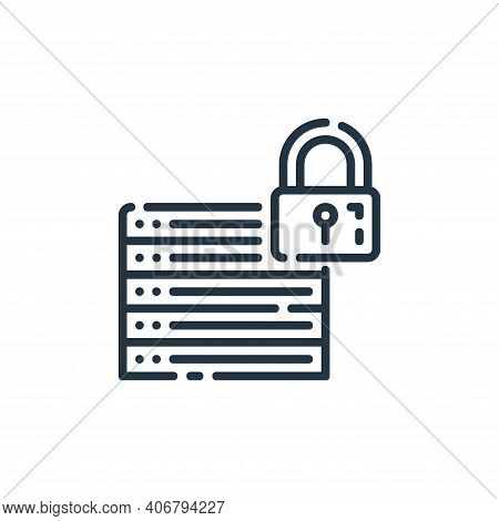 database icon isolated on white background from user interface collection. database icon thin line o