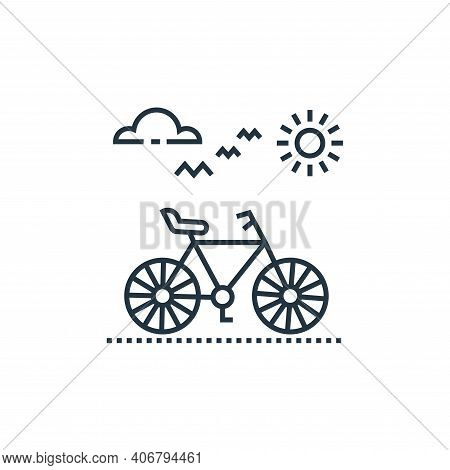 cycle icon isolated on white background from tourism collection. cycle icon thin line outline linear